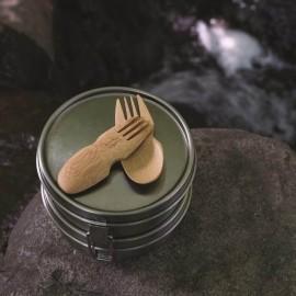 Cuillère - fourchette (Sporks) en bambou réutilisable - STOP PLASTIQUE