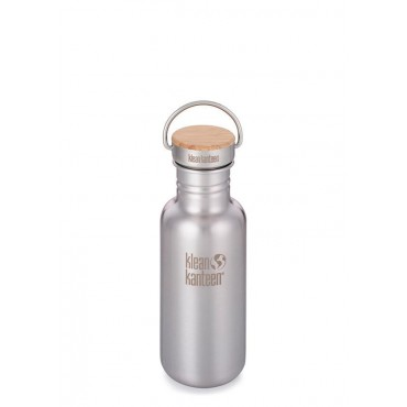 Gourde inox classic Reflect bouchon Bambou - 532 ml - Klean Kanteen