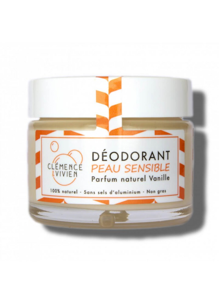 Déodorant naturel peau sensible - Vanille - boutique zero dechet