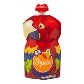 Gourde compote réutilisable Squiz - Perroquet