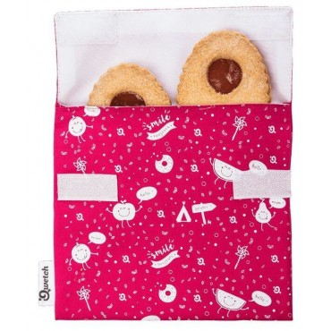 Pochette à goûter enfants - Lavable et Réutilisable - Magenta