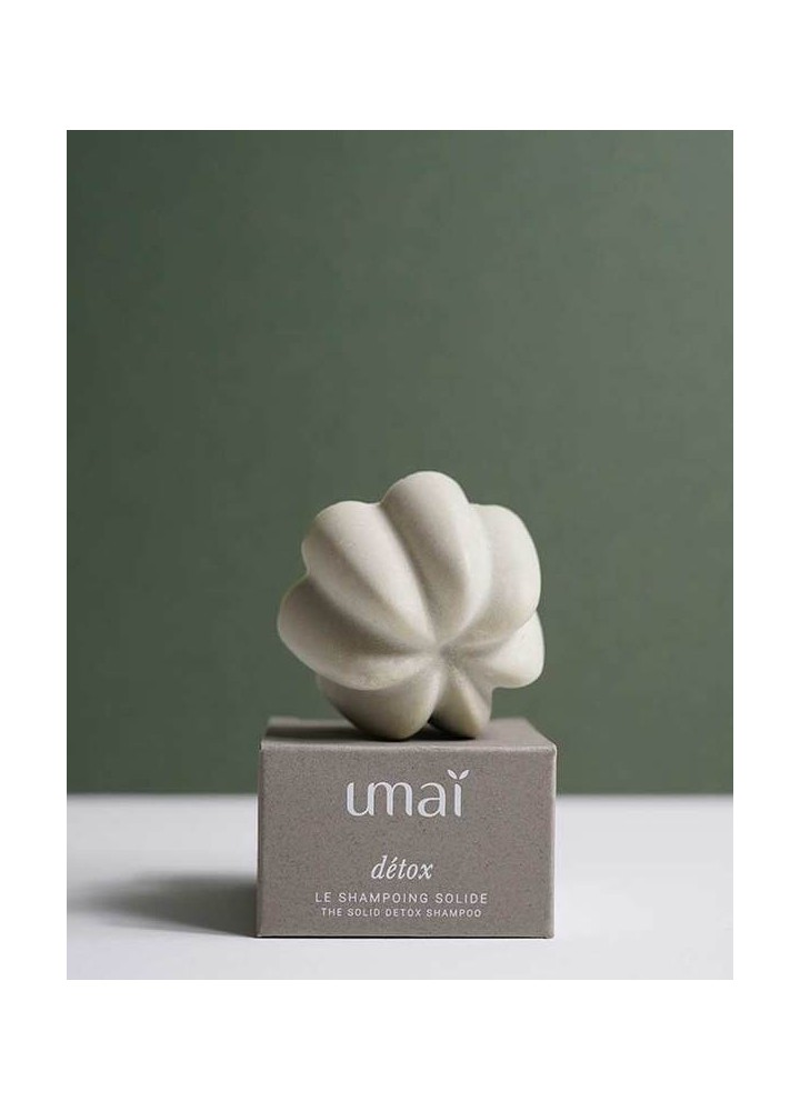 Shampoing solide naturel détox - Umaï - made in france