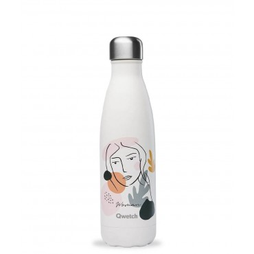 Gourde inox Qwetch - Woman - La gourde qui reverse 2€ à la Ligue contre le Cancer