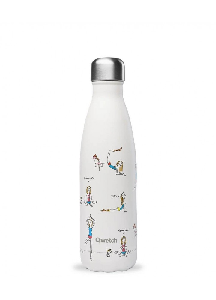 Qwetch - Gourde inox - Yoga by Soledad - Rester Zen avec My Little Cabane