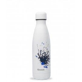 Bouteille inox isotherme - Qwetch collection Spray blanc