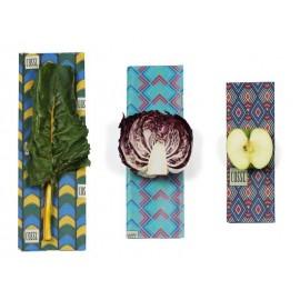Lot 3 emballages réutilisables cire végétale