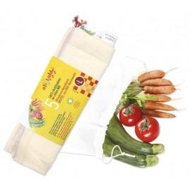 course zéro déchet - Lot de 5 sacs Fruits et Légumes L