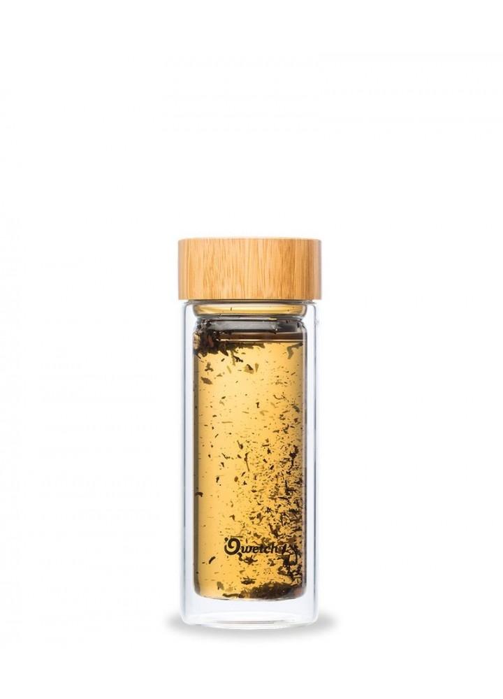Théière verre bouchon bambou 320 ml - Qwetch