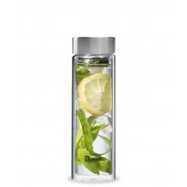 Théière verre bouchon inox 430 ml - Qwetch