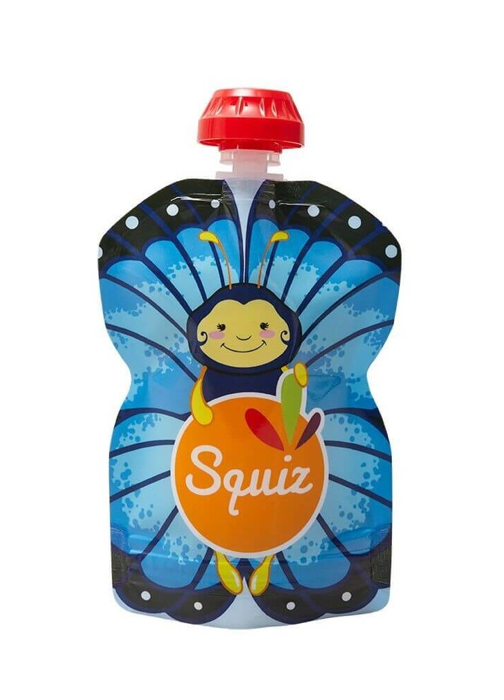 Squiz - Gourdes réutilisables - 90 ml - papillon