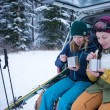 ski avec Boîte Isotherme