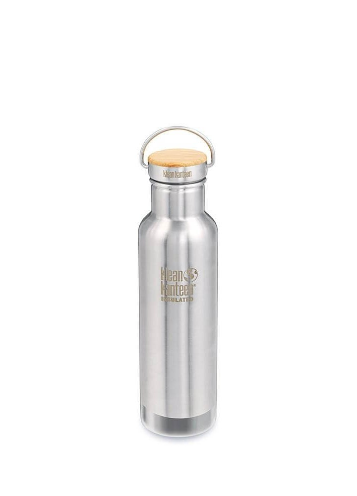 Gourde inox isotherme Reflect bouchon Bambou - 592 ml - Klean Kanteen