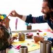 Boite hermétique papa et enfant