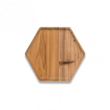 Plateau en bois de cèdre hexagonal  - My Little Cabane