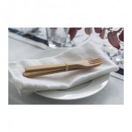 Couverts en bambou réutilisable - sans plastique