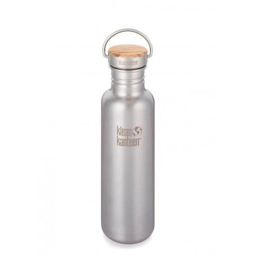 Gourde inox classic Reflect bouchon Bambou - 800 ml - Klean Kanteen