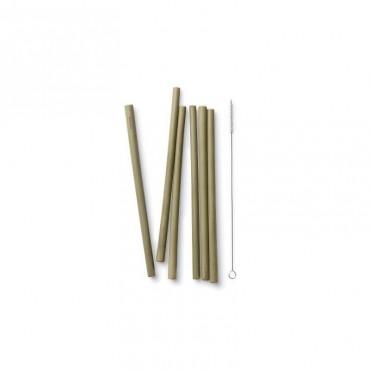 Pailles en bambou longues - lot de 6 - My Little Cabane