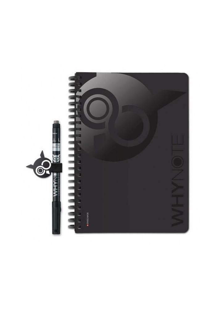 Bloc-notes A5 réutilisable noir - WhyNote Book