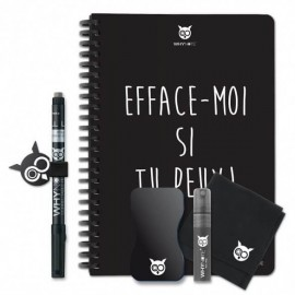 Bloc-notes A5 réutilisable Efface-moi - WhyNote Book