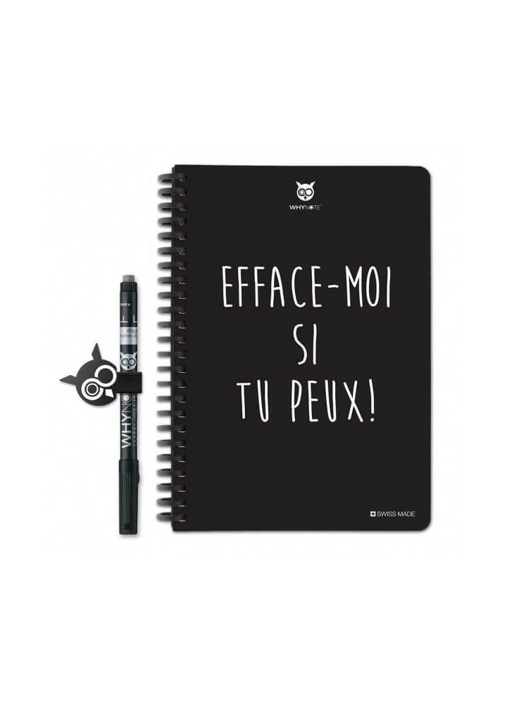 Bloc-notes A5 réutilisable Efface-moi - WhyNote Book