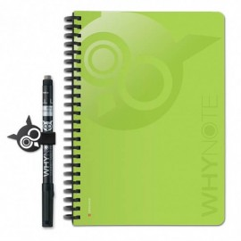 Bloc-notes A5 réutilisable vert - WhyNote Book