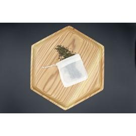 Sachet de thé réutilisables en coton bio