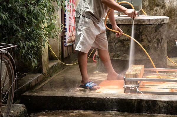 Nettoyage paille bambou