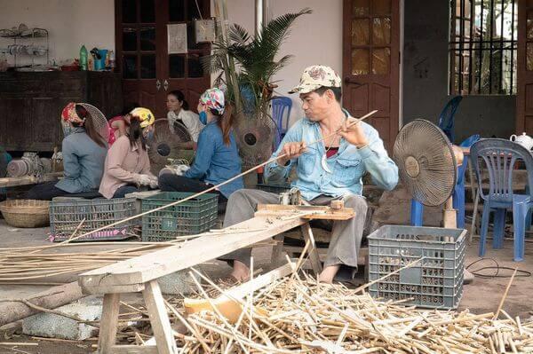 Fabrication paille bambou