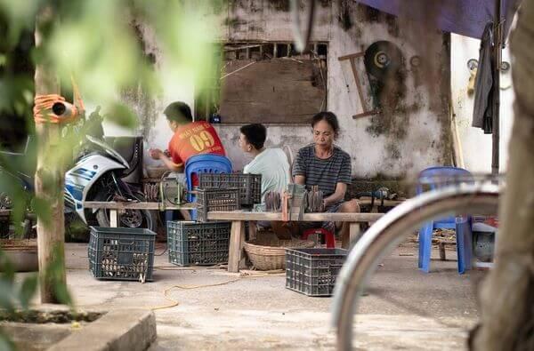 ferme de fabrication paille en bambou